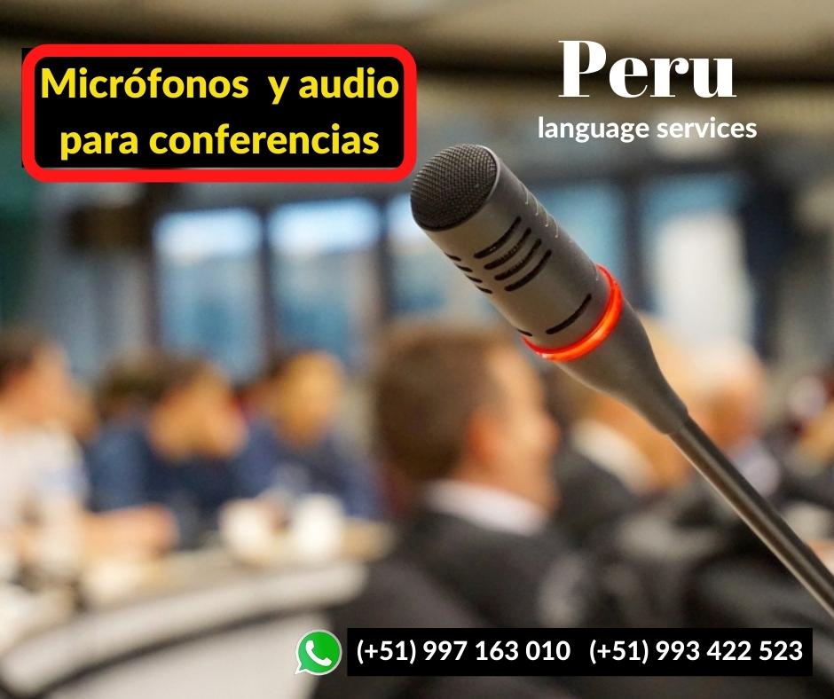 🥇 Alquiler  micrófonos directorio, cuello ganso en LIMA ✅