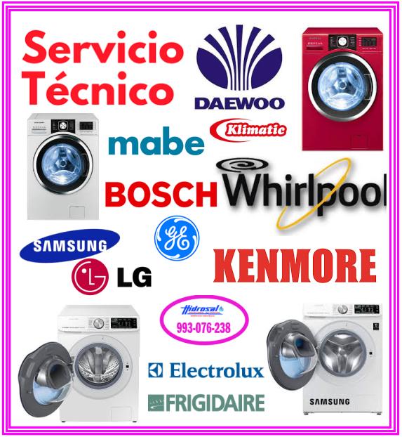 Técnicos de lavadoras Lg y reparaciones