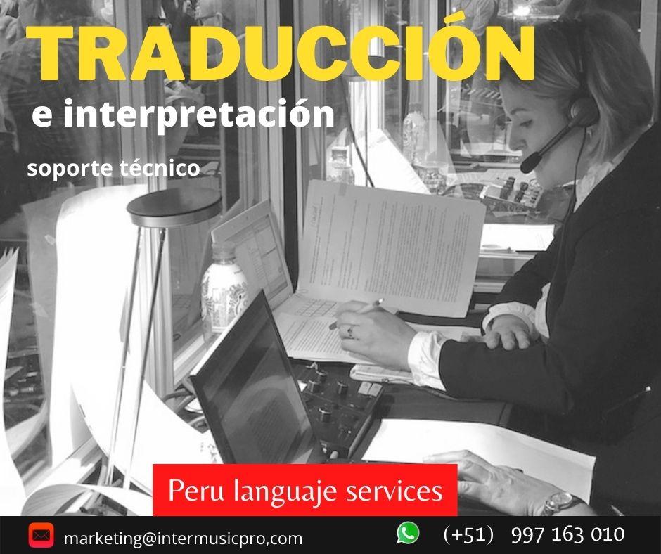 🥇 Traducción simultánea en Lima / ✅ 997163010