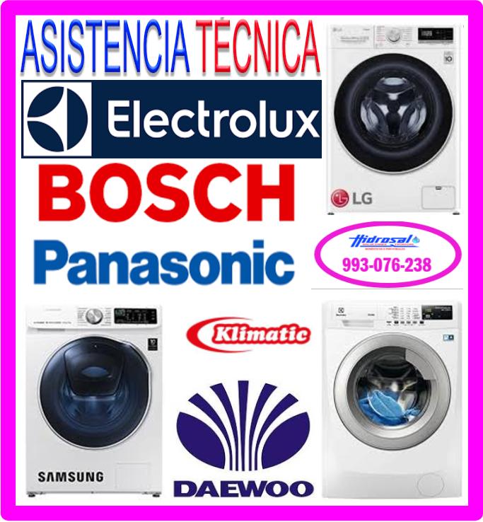 Mantenimiento de lavadoras Electrolux.