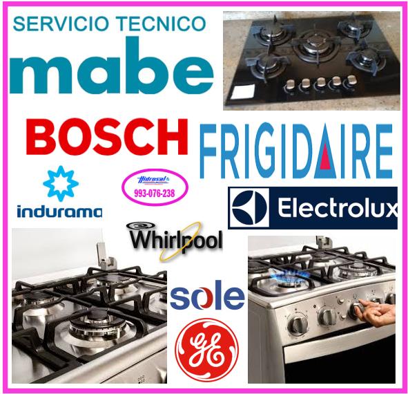 Servicio técnico de cocinas a  gas Indurama