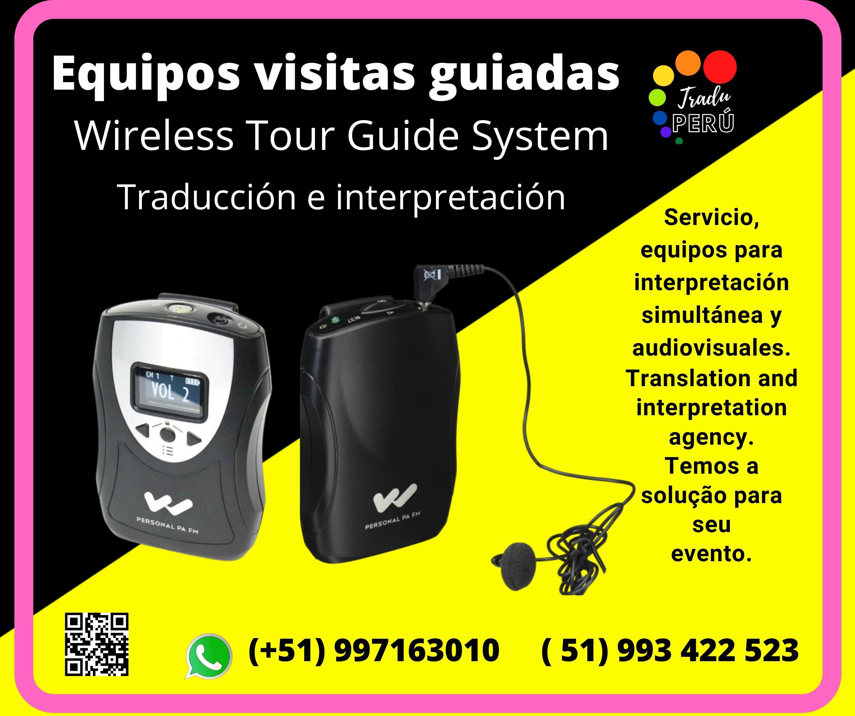 Equipos traducción simultánea  /Trujillo Lima ✅ 997163010