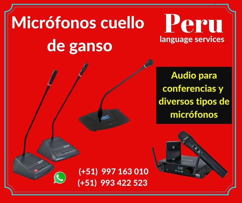 Equipos sonido / micrófonos cuello ganso LIMA✅ 997163010