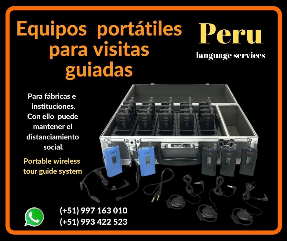 📌 Portátiles visitas guiadas traducción portátil LIMA