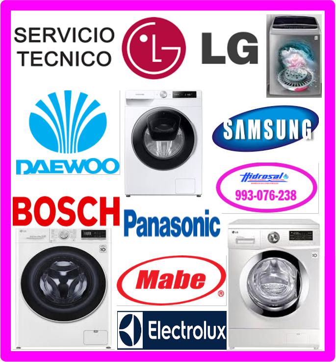 Lg técnicos de lavadoras Lg 993076238