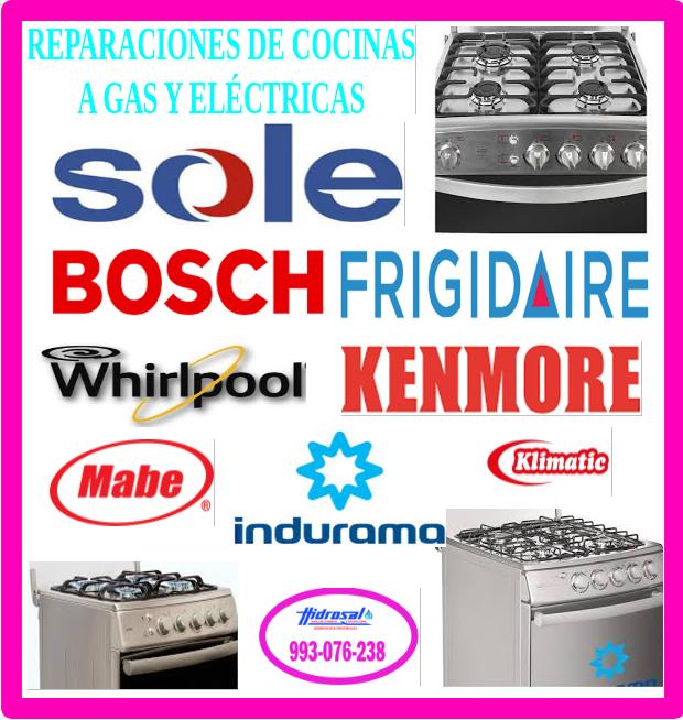 Técnicos de cocinas a gas y reparaciones
