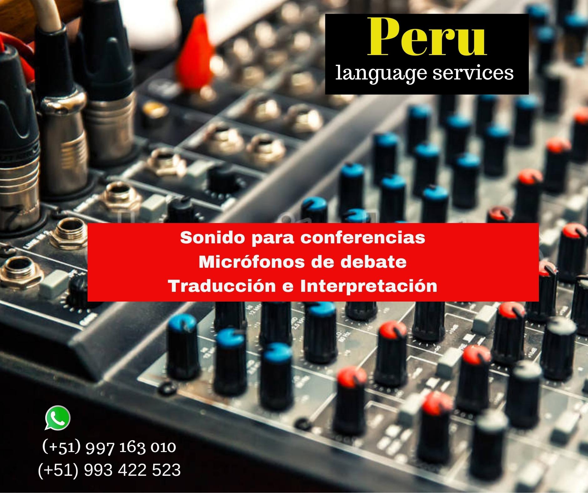 Traducción de idiomas para eventos LIMA ✅ 997163010