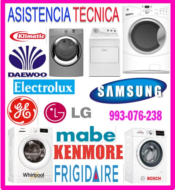 Servicio técnico de lavadoras  frigidaire