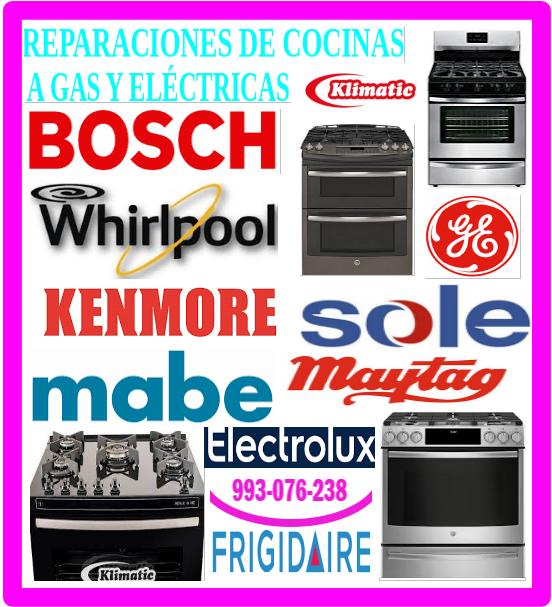Bosch servicio técnico de cocinas a gas