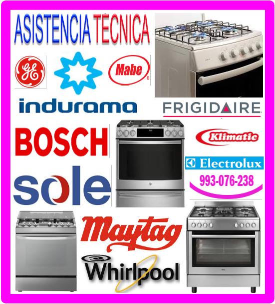 Servicio técnico cocinas a gas  Electrolux