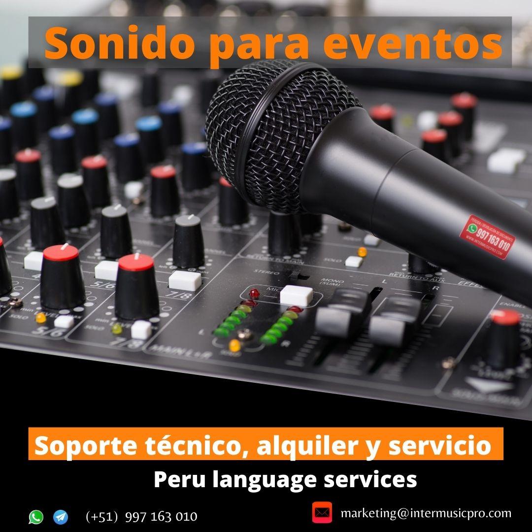 Alquiler  microfonos cuello  GANSO LIMA /TRUJILLO /