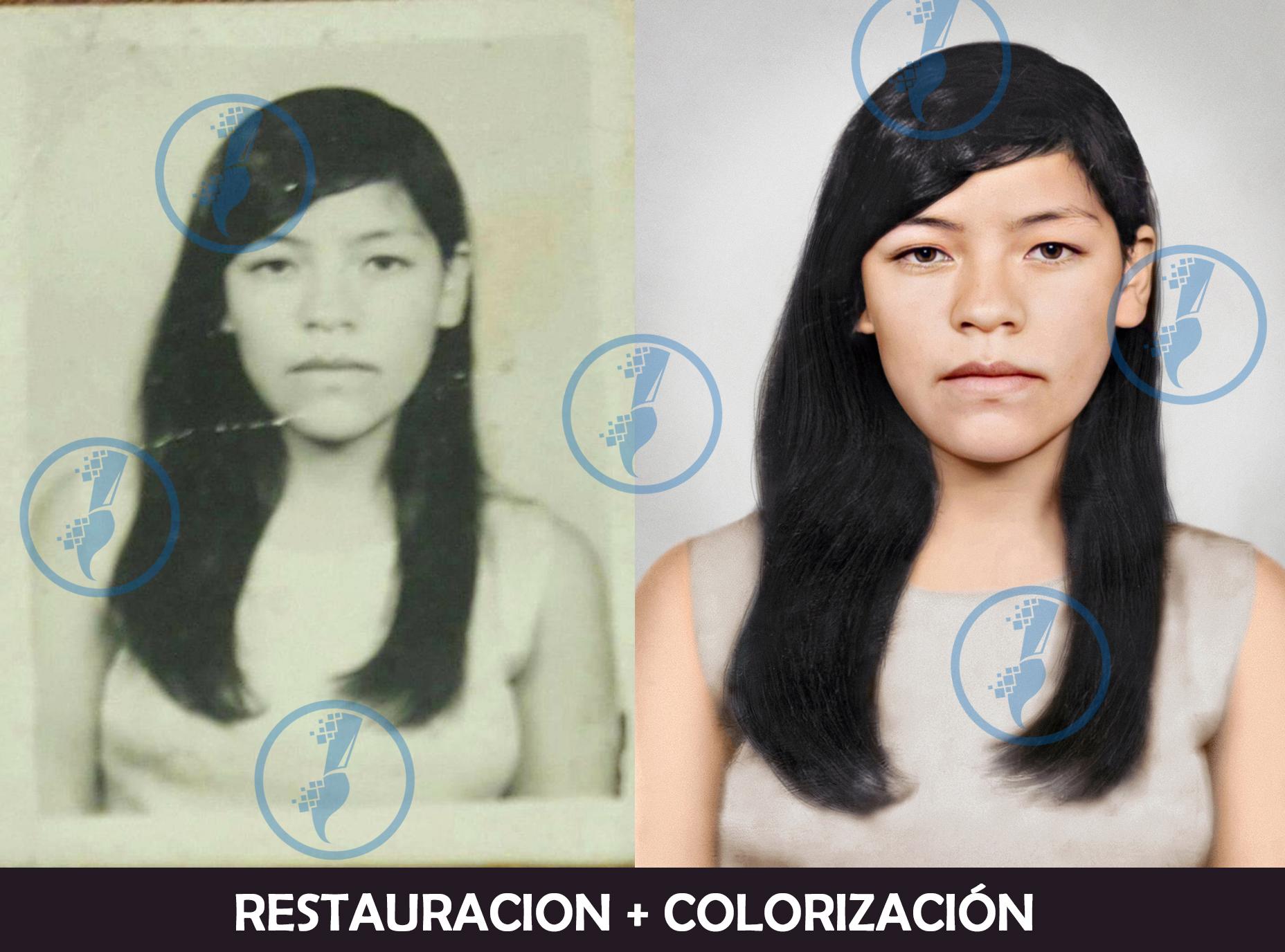 Restauración de fotos, retoque y colorización.