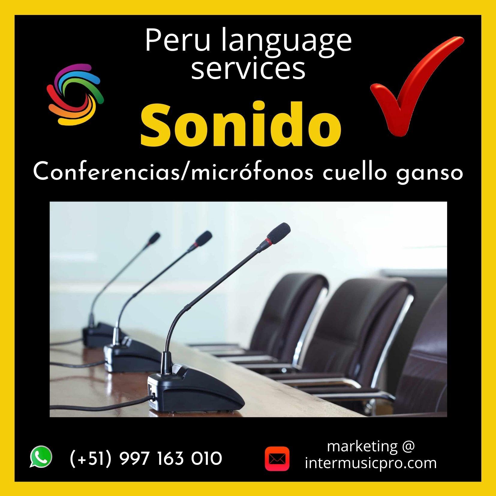 Micrófonos debate / cuello ganso LIMA ✅ 997163010