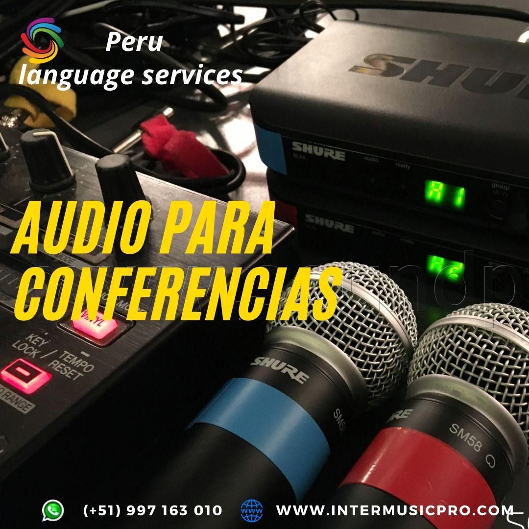 Traducción equipos para eventos LIMA/ PIURA ✅ 997163010