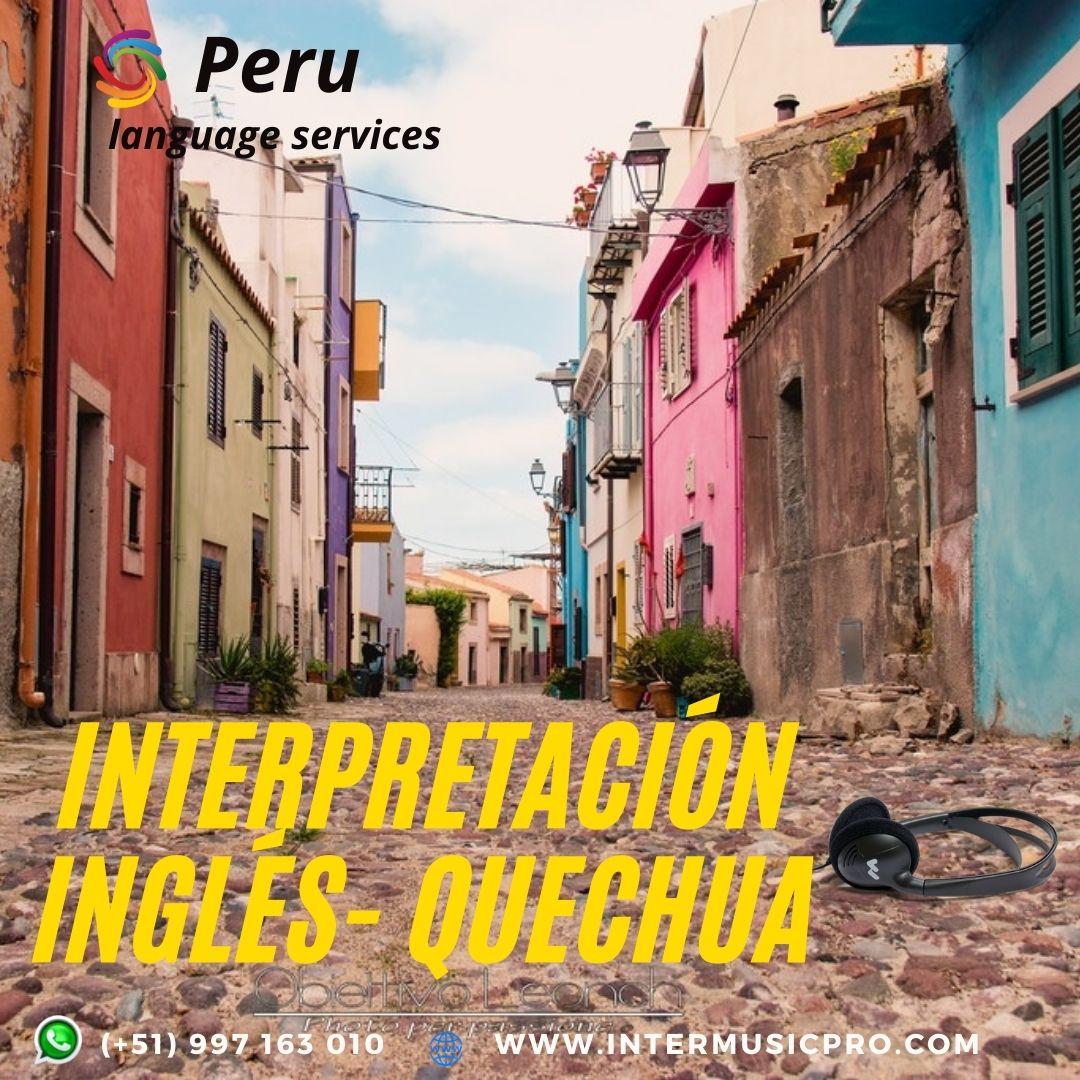 Traductor español QUECHUA_ Inglés LIMA ✅ 997163010