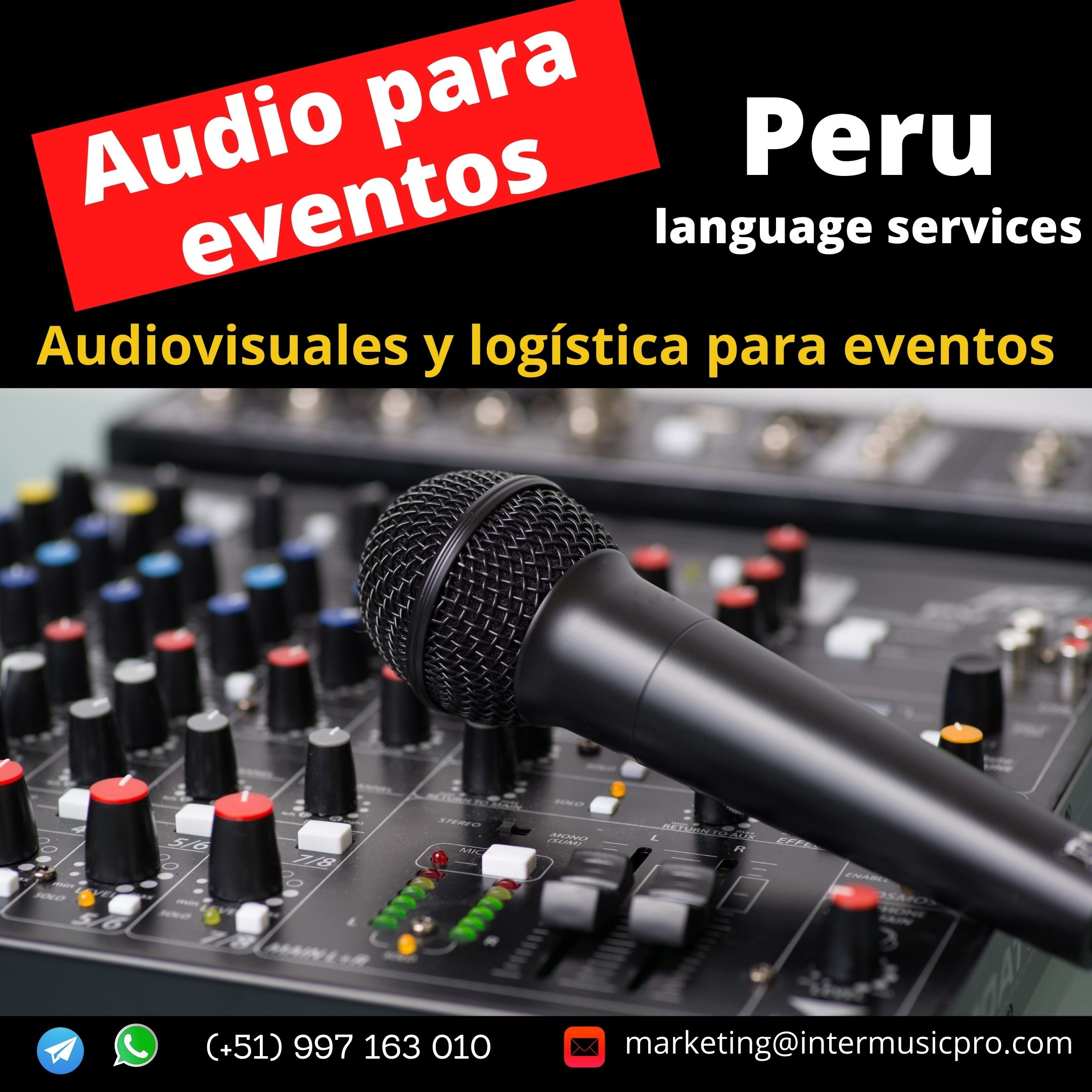 Micrófonos cuello de ganso en LIMA / PIURA / CUSCO / EVENTOS