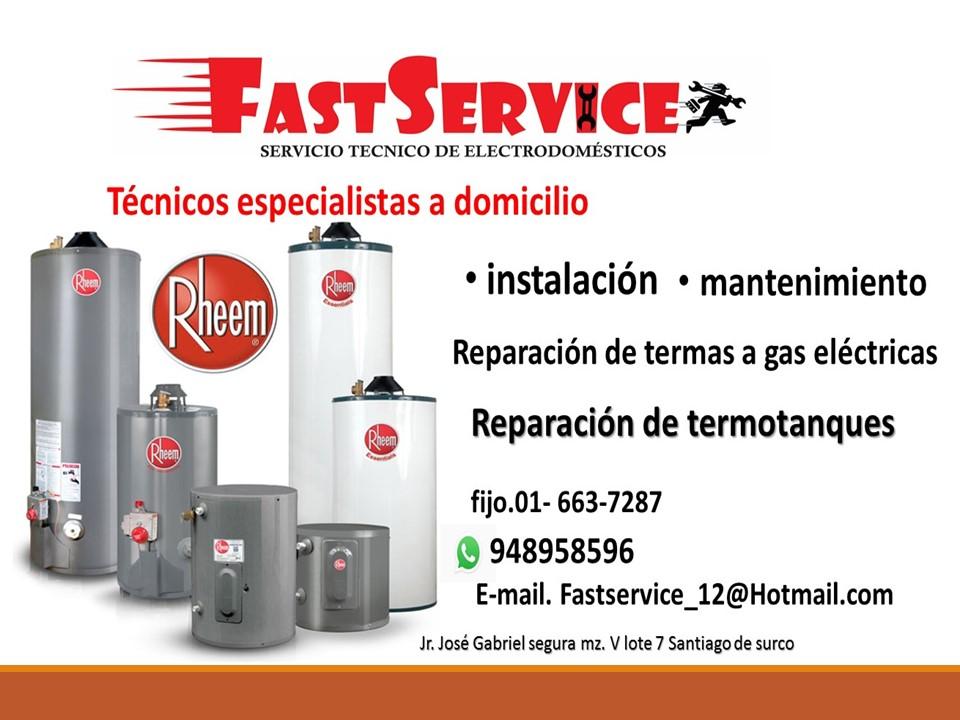 SERVICIO TECNICO termas a /GAS RHEMM EN LIMA