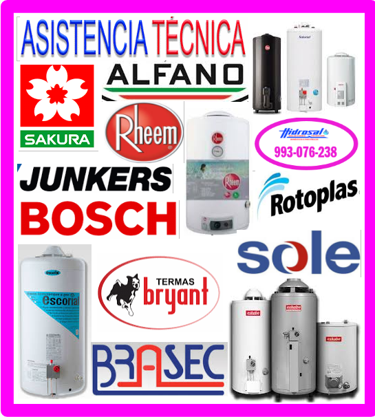 Reparaciones termas a gas Bosch