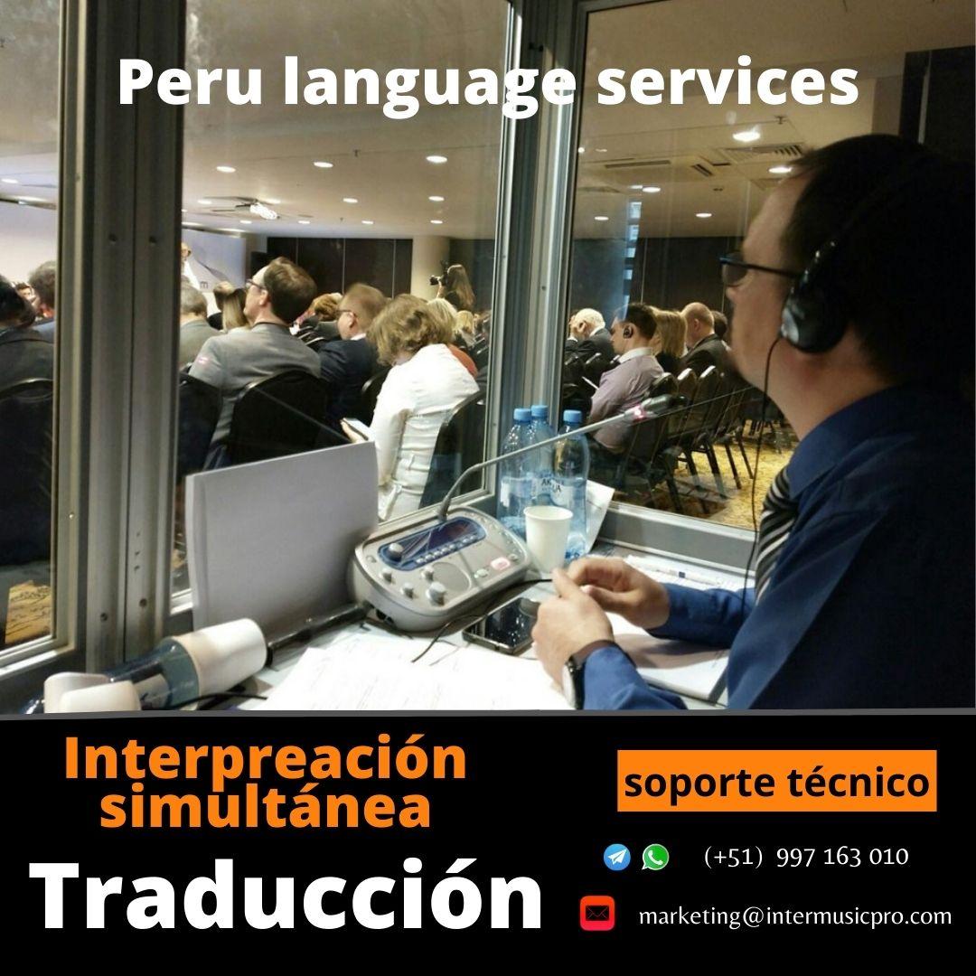 Traducció FRANCES_ ESPAÑOL INGLES EN LIMA / EQUIPOS EVENTOS